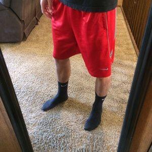Nike Dri Fit Red Basketball Athletic Shorts Medium